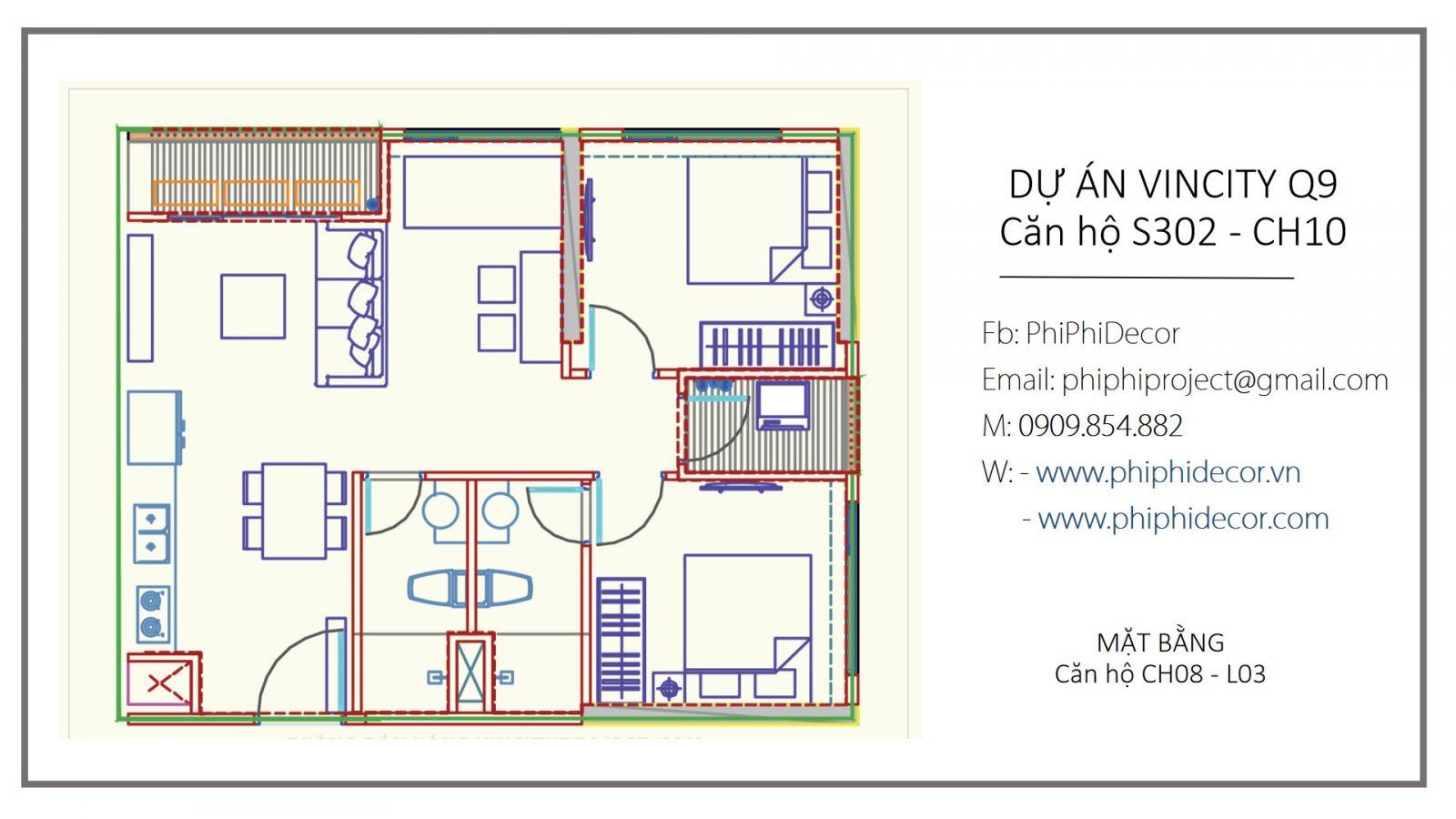 THIẾT KẾ THI CÔNG NỘI THẤP TỦ BẾP FULL HOUSE CĂN HỘ ANH HÙNG VINCITY Q9 L3 -CH10 2PN + 1